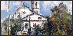 SANT BOI DE LLUÇANÈS-PINTURA-CATALUNYA-PAISATGES-OSONA-ESGLESIA-COLORS-TARDOR-PINTOR-ERNEST DESCALS- Painting, Color, Scenery, Impressionist Art, Watercolor Painting, Paintings, Artists, Painting Art, Colour