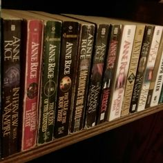 My Anne Rice Vampire Chronicles collection <3 | books, reading, bookstagram