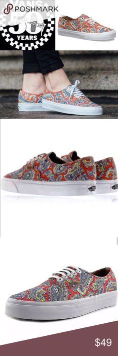 113c0c12683 6hrSALE🔥🆕Rare Vans Paisley Authentic Skate Shoe Brand New in Box HTF Vans  paisley