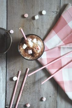 #pink #table#morning #marshmallow