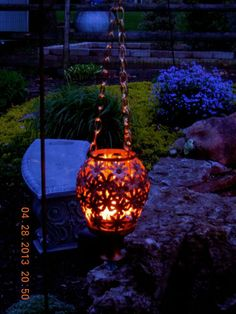 Repurposed old lamp turned into an outdoor lantern :: Hometalk