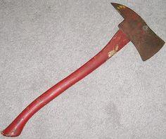 Vintage Warren Fire Axe Firemans Ax Pickaxe Firefighter Tools $16.64  A little something for the men on Pinterest!