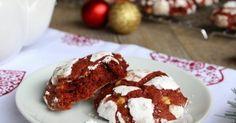 Ricetta red velvet crinkle cookies | Biscotti | Pinterest