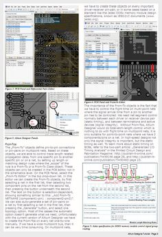 Altium Designer – High Speed Design Tutorial    The best high speed design tutorial for PCB layout in Altium Designer what I have found. It's worth to have a look.  High-Speed Digital Board Design with Altium Designer by Istvan Nagy, Electronics Design Engineer, Blue Chip Technology.