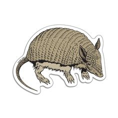 Armadillo Die Cut Sticker Top Place, Flour Sack Towels, Armadillo, Die Cutting, Stickers, Sticker, Decals
