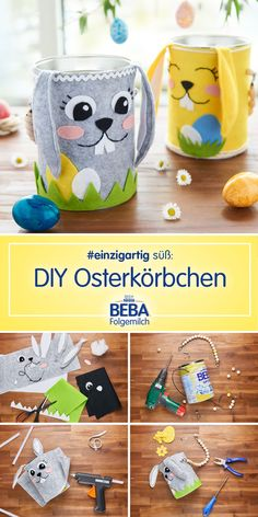 DIY-Ideen mit der Nestlé BEBA Folgemilch Dose Do you already have a basket for Easter to collect the Easter Printables, Easter Party, Easter Wreaths, Crochet Gifts, Easter Baskets, Diy Crafts For Kids, Easter Crafts, Diy Gifts, Easter Eggs