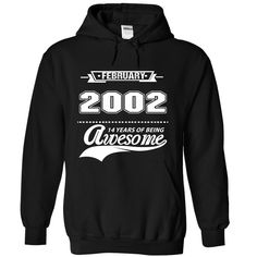 2002 AWESOME T-Shirts, Hoodies. VIEW DETAIL ==► https://www.sunfrog.com/Birth-Years/2002-AWESOME-9087-Black-Hoodie.html?id=41382