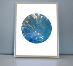 URANUS - Blue, light blue, silver, White Moon/Planet Art Print by PrettyPaperPlaceShop on Etsy Blue And Silver, Planets, Light Blue, Tapestry, Moon, Art Prints, Unique Jewelry, Handmade Gifts, Artwork