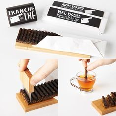 """A low-key & elegant tea brick pack by Anne Ouellette...perfectly for indulging in just one cup of real tea. (Photo Coutesy: """"Alice Wang Design"""")"""
