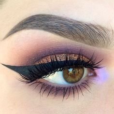 Makeup Geek Eyeshadows in Bitten, Creme Brulee, and Curfew + Makeup Geek Foiled Eyeshadow in Flame Thrower. Look by: kaitlyn_nguy