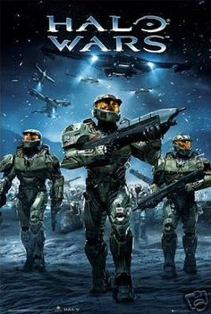 Halo Poster Army Wars Rare HOT NEW