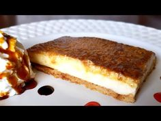 🥧TARTA DE QUESO SIN HORNO FACILÍSIMA ✔️//BEATRIZ COCINA. - YouTube Canapes, French Toast, Cheesecake, Breakfast, Desserts, Recipes, Food, Youtube, Caramel Tart