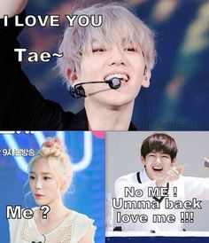 So weird since Baekhyun and Taeyeon used to date.... BUT STILL Nothing beats family right?! LOL