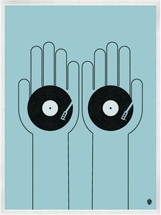 turntables in hand. #dj #djculture #djart http://www.pinterest.com/TheHitman14/dj-culture-vinyl-fantasy/