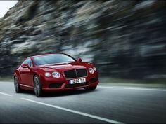 Bentley Continental GT V8, Red, Car