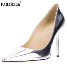 48.95$  Watch now - http://aliz5t.worldwells.pw/go.php?t=32697920949 - Women Pointed Toe High Heel Shoes Patent Leather Office Lady Shoes Woman Sexy Dress Pumps Heels Heeled Footwear Size 35-46 B223