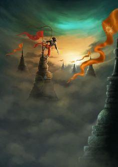 Hanuman in temple city, Santh Thapa Hanuman Jayanthi, Hanuman Pics, Durga, Shiva Hindu, Hindu Deities, Krishna, Lord Rama Images, Lord Shiva Hd Images, Hanuman Images Hd