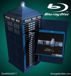 Dr. Who Tardis Blu-Ray BD DVD Case Collector's Edition Tin