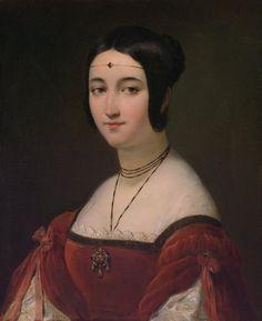 Colin, Alexandre-Marie Paris 1798 - Paris 1873  The Artist's Sister as La Belle Ferronniere