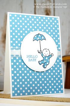 Stampin' Up! Moon Baby set is just so cute. Here I used the Paper Piecing Technique for the baby grow and umbrella. See it all here... http://www.queenpipcards.com/2017/05/02/is-this-the-cutest-card-idea-youve-seen-today/ Pip Todman Crafty Coach & Stampin' Up! Demonstrator in the UK www.queenpipcards.com Facebook @QueenPipCards Queen Pip Cards #queenpipcards #stampinup #papercraft