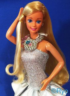 Jewel Secrets Barbie, 1986. Gorgeous & Glam with Jewellery that changed color, and a skirt that became a purse!