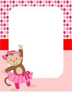 invitacion monkey girl