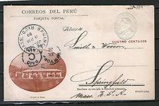 """Perú (# 2603/97): """"medicine-hospital"""", Tarjeta Postal De H&G:40, w/view Hospital De Tarma"""