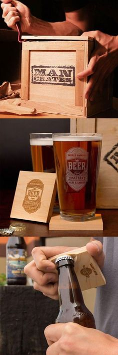Beer Man Crate gift idea