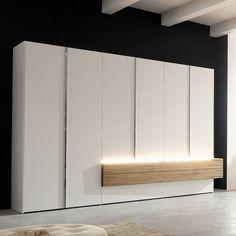 Moderner Kleiderschrank / aus Massivholz / lackiertes Holz / Falttüren GENTIS  hülsta