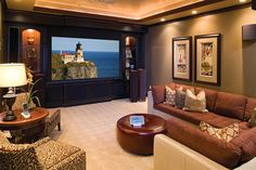 Basement entertainment room:
