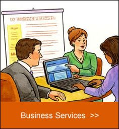 Furia Rubel represents many business service clients - illustration by Pat Achilles. Copyright 2012. All rights reserved.