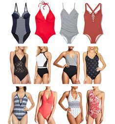 Affordable & flattering one-piece swimsuits