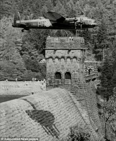 An poster sized print, approx (other products available) - Lancaster over Derwent Dam Ladybower reservoir for the RAF anniversary in 1988 - Dambusters - Image supplied by The Northcliffe Collection - poster sized print mm) made in Australia Ww2 Aircraft, Military Aircraft, Lancaster Bomber, Battle Of Britain, Royal Air Force, Military History, World War Two, Photo Mugs, Photo Gifts