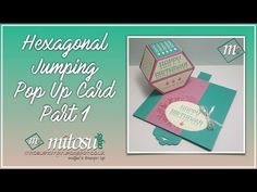 How to Make a Hexagonal Base Pop Up Card with the Window Shopping Bundle #hexagonalbasepopup - YouTube