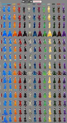 [Homestuck] - God tier outfits updated.