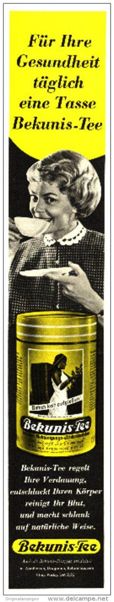 Original-Werbung/Inserat/ Anzeige 1960 - BEKUNIS-TEE - Ca. 290 X 55 Mm - Werbung
