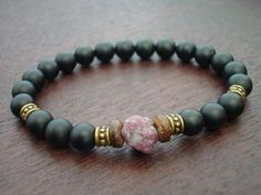 Men's Raw Ruby Compassion Mala Bracelet