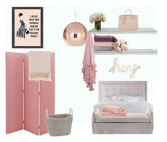"""""""Girly Princess"""" by hazelllleyessss ❤ liked on Polyvore featuring interior, interiors, interior design, home, home decor, interior decorating, Haute House, Ethimo, PBteen and Tom Dixon"""
