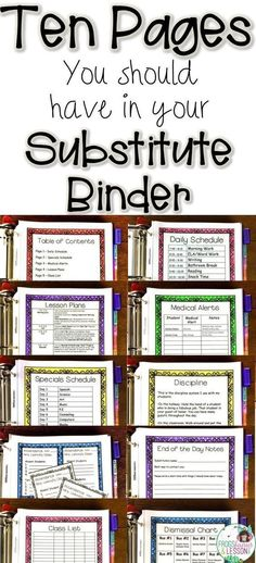 Not sure what to include in your Substitute Binder? Read my tips on what pages t. - Not sure what to include in your Substitute Binder? Read my tips on what pages t. Not sure what to include in your Substitute Binder? Read my tips o. Teacher Organization, Teacher Tools, Teacher Hacks, Teacher Resources, Teacher Stuff, Student Teacher, Organized Teacher, Student Gifts, Student Loans