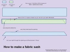 How to make your own fabric sash! Oh I could have fun with this