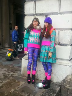 THE 80' CALLED>>want their clothes back..lol Wardrobe #SecretReporter at #LFW #SS14