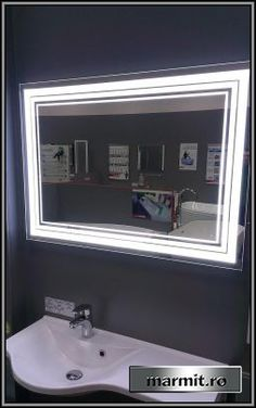 Oglinda baie Belle cu iluminare LED Led, Bathroom Lighting, Mirror, Furniture, Home Decor, Bathroom Light Fittings, Bathroom Vanity Lighting, Decoration Home, Room Decor