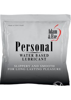 Buy Adam And Eve Personal Water Based Lube Foil Pack 2.5 Milliliter online cheap. SALE! $0.99