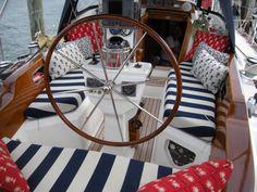Striped cockpit cushions | sailing anarchy forum