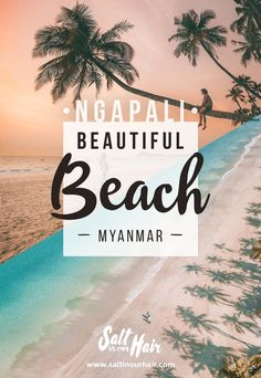 Holiday Destinations: Ngapali Beach in Myanmar is fairly unknown from the mass tourism. This beautiful white sand beach is quiet, in a great location and is one of the most beautiful beaches in Asia. Find out about all the things to do in Ngaplai. Ngapali Beach, Myanmar Travel, Asia Travel, Myanmar Beach, Yangon, Destin Beach, Beach Trip, Beach Travel, Travel Plane