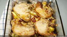 Chuletas de cerdo al horno. Receta