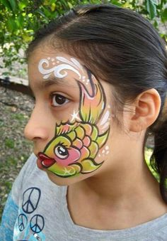 Fish Face Painting.