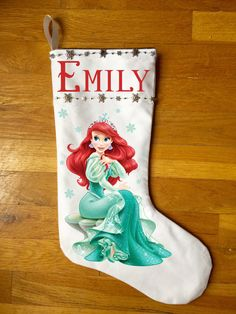 A personal favorite from my eBay shop http://www.ebay.com/itm/Little-Mermaid-Ariel-Christmas-Stocking-Personalized-and-Hand-Made-/252274961199?ssPageName=STRK:MESE:IT