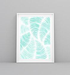 Nordic Print, Tropical Print, Palm Leaves, Summer Print, Lamina decorativa, Palm Print, Palm Leaf, Palm Art, Laminas Nordicas, Mint Prints