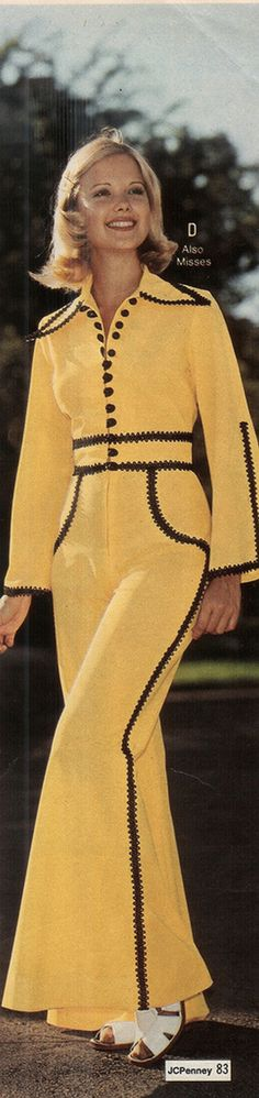1970s Jumpsuit with a lot going on.